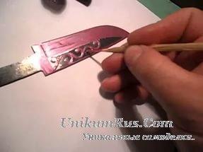 Трафареты для ножей на лезвие