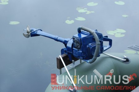 лодочный мотор из бензопилы вариант