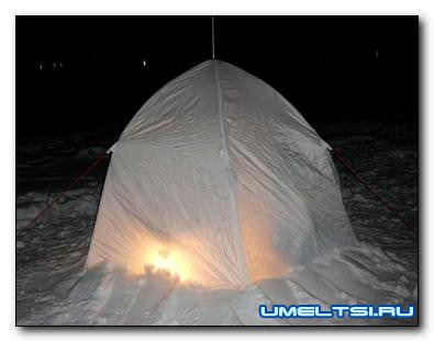 Палатка для рыбалки зимой своими руками
